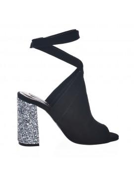 Sandale piele intoarsa cu toc - piele naturala - Joyas