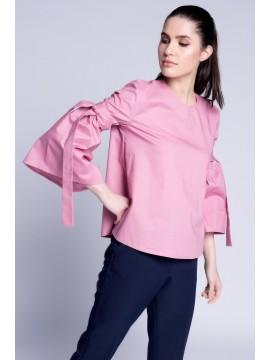 Camasa roz cu maneci evazate