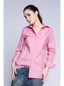 Camasa roz prafuit cu croiala masculina - designeri romani