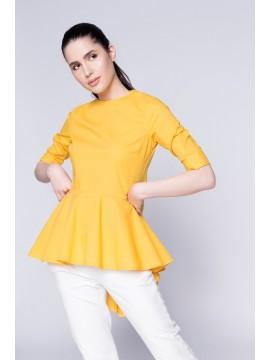 Bluza galbena cu falduri la spate - designeri romani