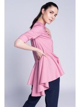 Bluza roz pudrat cu falduri