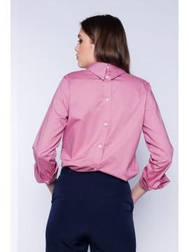 Camasa roz cu nasturi la spate bumbac - Designeri Romani - The ITem