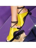 Papuci piele bej    - piele naturala - Joyas