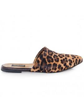 Papuci albastru sidef - piele naturala - Joyas
