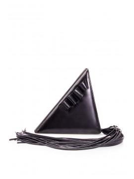 Geanta piele naturala neagra triunghi - designeri romani