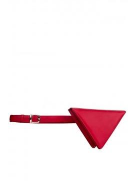 Borseta triunghi piele naturala rosie - designeri romani