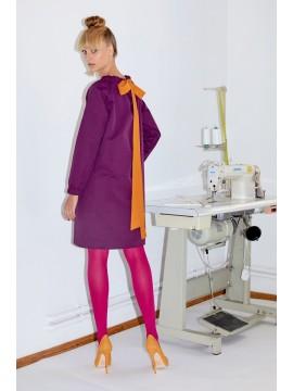 Rochie midi mov - Framboise - designeri romani