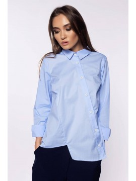 Camasa bumbac bleu cu nasturi oblici  - Designeri Romani  - The ITem
