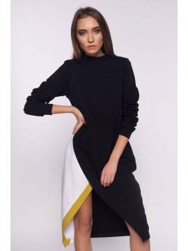 Rochie neagra din bumbac pieptanat  - Designeri Romani  - The ITem