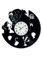 Ceas de perete Vintage din Vinil Beauty and the Beast