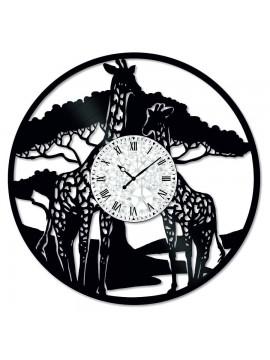 Ceas de perete Vintage din Vinil Giraffe