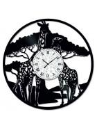 Ceas de perete Vintage din Vinil girafa