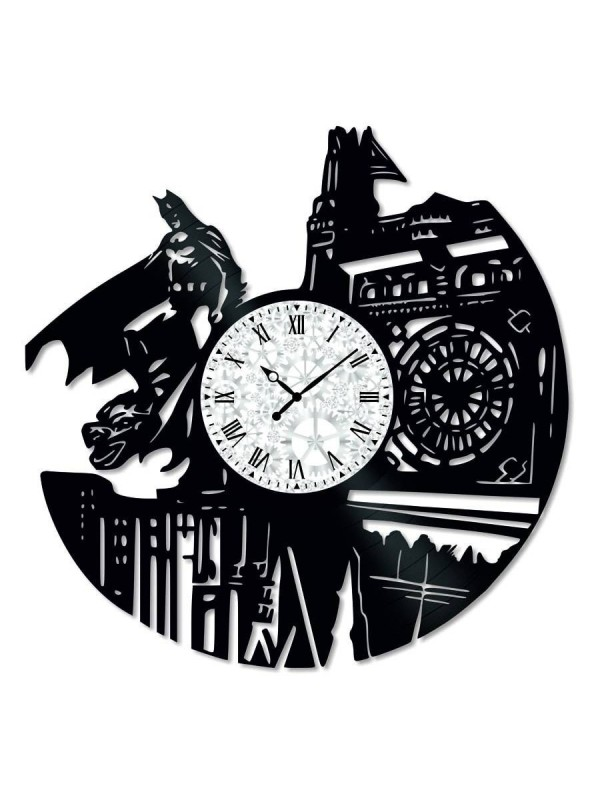 Ceas de perete Vintage din Vinil Batman