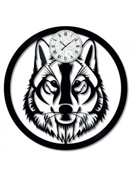 Ceas de perete Vintage din Vinil Wolf