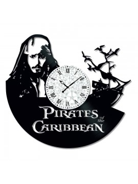 Ceas de perete Vintage din Vinil Pirates of the Caribbean
