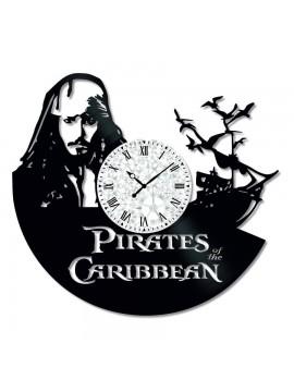 Ceas de perete Vintage din Vinil Pirates of the Caribbean