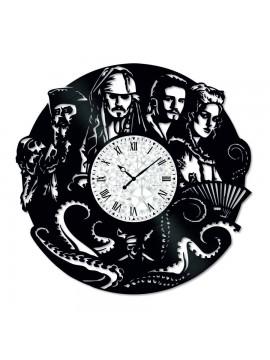 Ceas de perete Vintage din Vinil Pirates of the Caribbean 2