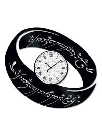 Ceas de perete Vintage din Vinil Inel Lord of the Rings