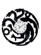 Ceas de perete Vintage din Vinil Dragons