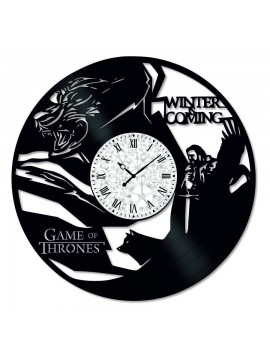 Ceas de perete Vintage din Vinil Game of Thrones