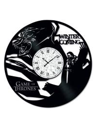 Ceas de perete Vintage din Vinil Game of Thrones