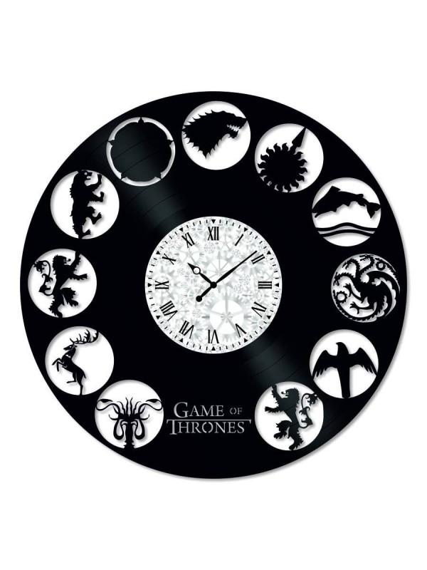 Ceas de perete Vintage din Vinil Game of Thrones Symbols