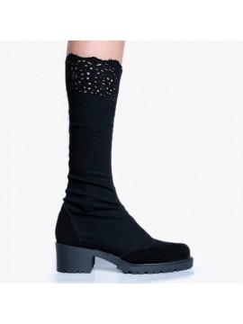 Cizme negre stretch - Bianca Georgescu