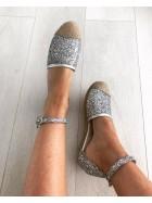 Espadrile cu glitter silver   - shop designeri romani