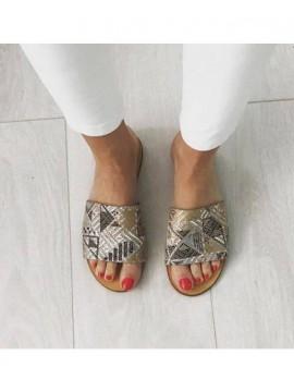 Papuci piele naturala     - shop designeri romani