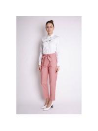 Pantalonii roz  bumbac  -  designeri romani  Framboise