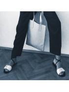 Sandale piele alba perforata laser   - Bianca Georgescu