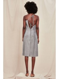 Rochie  de vara cu spatele gol argintie  Mark Off  - designeri romani