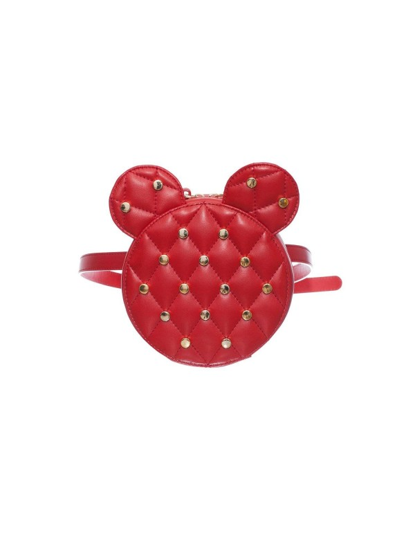 Borseta Mickey Mouse AIME Rosu - genti piele designeri romani