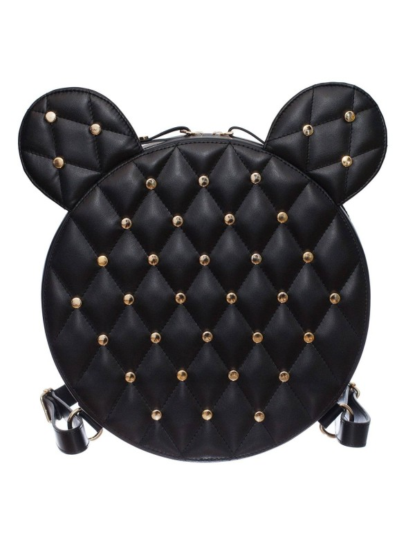 Rucsac Mickey Mouse AIME negru capse - genti piele designeri romani