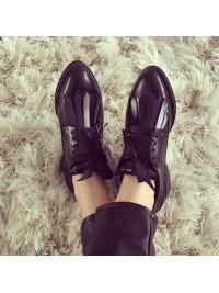 Pantofi oxford negri femei  - shop designeri romani