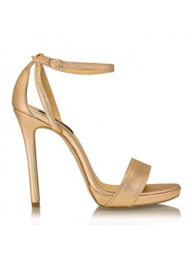 Sandale piele naturala irose gold  - designeri romani