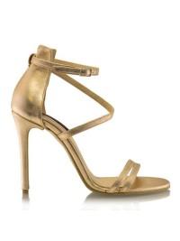 Sandale piele naturala rose gold  - designeri romani