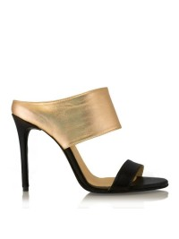 Saboti sandale negru auriu   - designeri romani