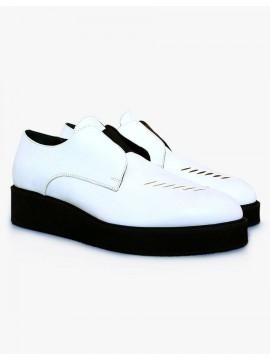Pantofi casual piele naturala alba  - Bianca Georgescu