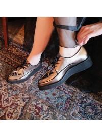 Pantofi casual piele naturala bronz - Bianca Georgescu