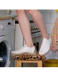 Pantofi sport piele naturala alba - Bianca Georgescu