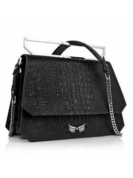 Black Alligator Large Osmium Bag