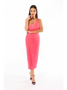 Rochie roz asimetrica Barbie
