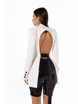 Blazer White open back