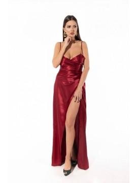 Rochie maxi burgundy