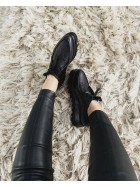 Pantofi oxford femei piele naturala neagra   - shop designeri romani