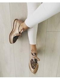 Pantofi oxford nude glitter femei 2  - shop designeri romani