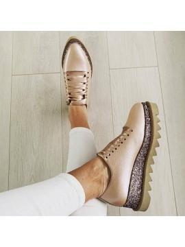 Pantofi oxford nude glitter femei 3 - shop designeri romani