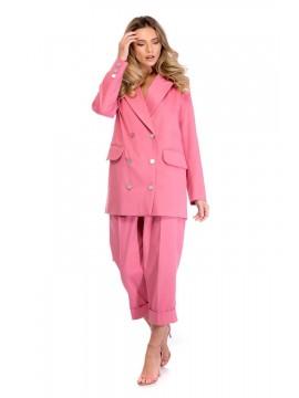 Deux piece costum dama roz - designeri romani