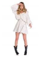Rochie mini alba cu paiete aplicate  - designeri romani